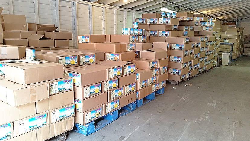 倉庫のパレットスペース